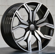 Land Rover Wheels 1266 22x10 5x120 Black Machined fit Range Rover Sport SVR HSE Autobiography Discovery