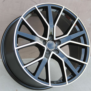 Audi Wheels 1332 20x9 5x112 Black Machined fit A4 S4 A5 S5 A6 S6 A7 A8 Q3 Q5 TT