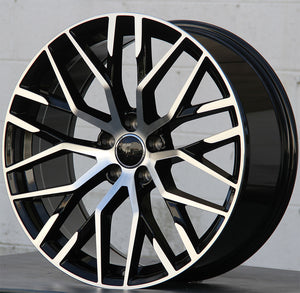 1349 19x8.5 5x112 ET35 Black Machined fit Audi A4 S4 A5 S5 A6 Q3