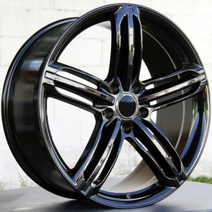 Audi Wheels 5257 22x9.5 5x130 Black fit Q7 VW Touareg