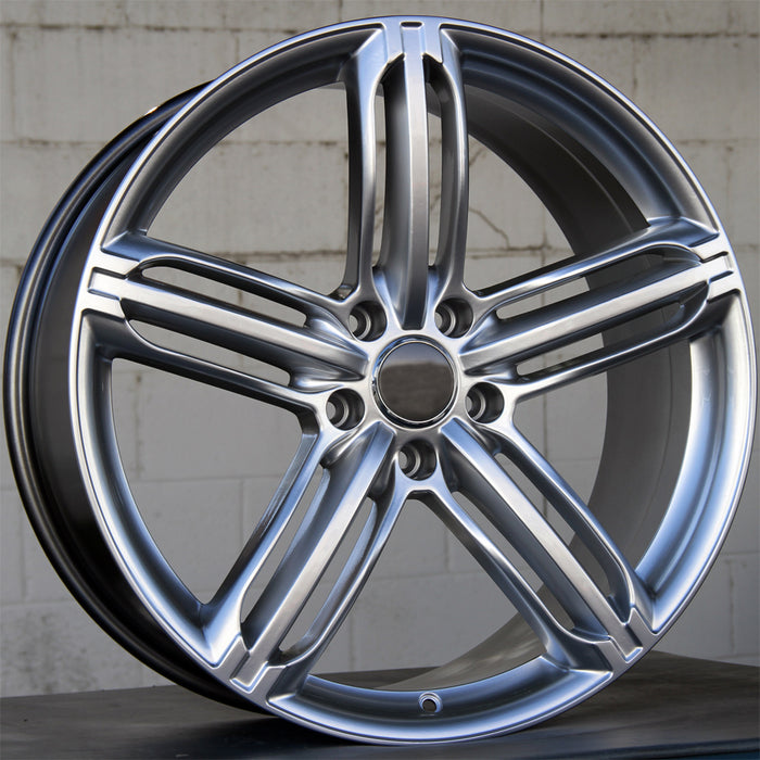 Audi Wheels 5257 22x9.5 5x130 Hyper Silver fit Q7 VW Touareg