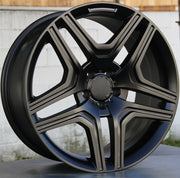Mercedes Benz Wheels 5346 22x10 5x112 Matte Black fit ML GL Class 320 350 450 500 550