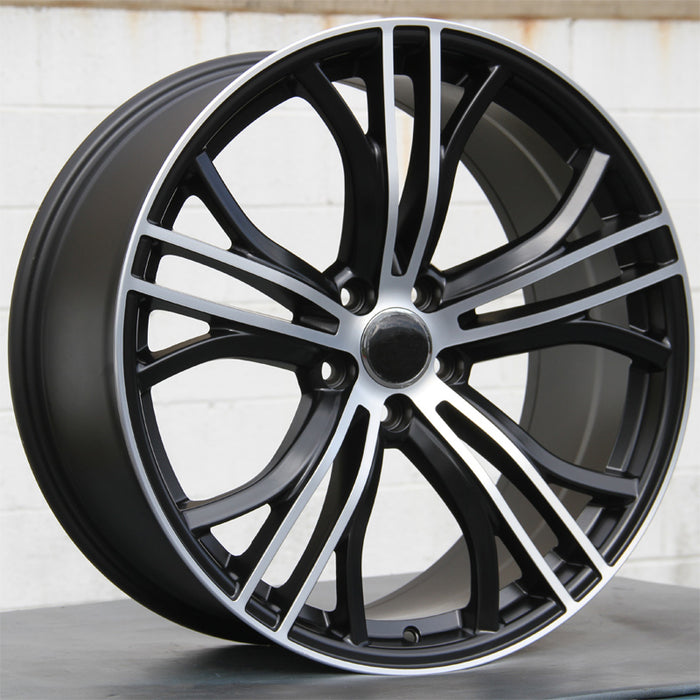 Audi Wheels 5411 20x9 5x112 Black Machined fit A4 S4 A6 S6 Q3 Q5 TT