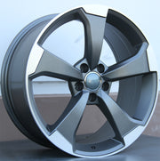 Audi Wheels 5612 19x8.5 5x112 Gunmetal Machined fit A3 S3 A4 S4 A5 S5 A6 Q3 Q5