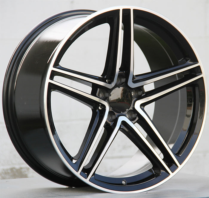 Mercedes Benz Wheels 5619 19x8/19x9 5x112 Black Machined fit A Class B Class C Class 180 200 220 300 400