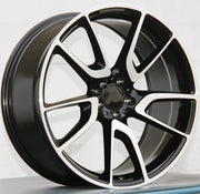 Mercedes Benz Wheels 5625 20x8.5/20x9.5 5x112 Black Machined fit E CL CLK SLK S SL Class 300 350 450 550