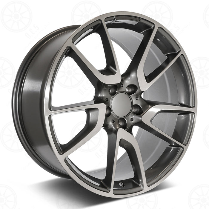 Mercedes Benz Wheels 5625 20x8.5/20x9.5 5x112 Gunmetal Machined fit E CL CLK SLK S SL Class 300 350 450 550