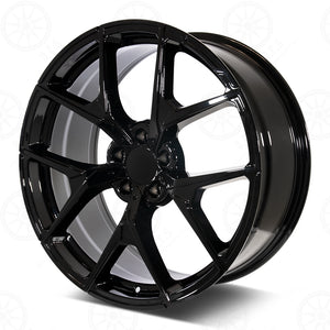 Mercedes Benz Wheels 5626 20x8.5/20x9.5 5x112 Gloss Black fit E CL CLK SLK S SL Class 300 350 450 550
