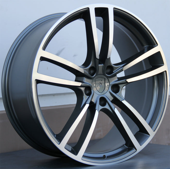 Porsche Wheels 5628 20x9 5x130 Gunmetal Machined fit Cayenne S GTS Turbo