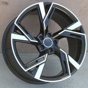 Audi Wheels 5667 19x8.5 5x112 Black Machined fit A3 S3 A4 S4 A5 S5 A6 Q3 Q5 RS