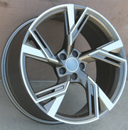 Audi Wheels 5667 19x8.5 5x112 Gunmetal Machined fit A3 S3 A4 S4 A5 S5 A6 Q3 Q5 RS