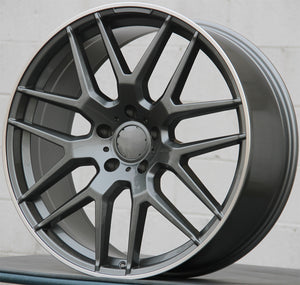 Mercedes Benz Wheels 7132 22x10 5x130 Gunmetal Machined fit G Wagon G350 G400 G450 G500 G550