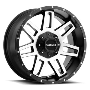 Raceline Wheels Injector Black Machined Face