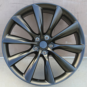 Tesla Wheels 1356 22x9/22x10 5x120 Matte Black fit Model X Model S Turbine