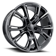 Jeep Wheels F077 22x9 5x127 PVD Dark Chrome fit Grand Cherokee Wrangler SRT Style