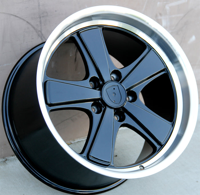 Porsche Wheels 251 19x8.5/19x11 5X130 Black Machined fit 911 Carrera