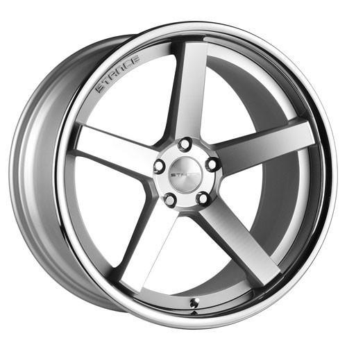 Stance Wheels SC5 Matte Silver Chrome Lip