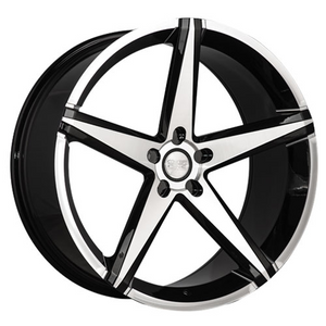 Concept One Wheels CSM02 Black Machined