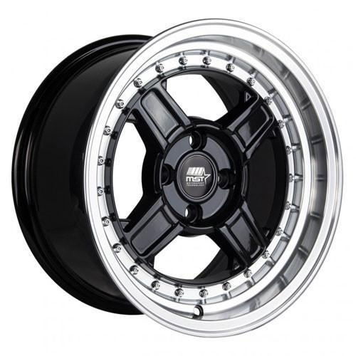 MST Wheels Kunai Black Machined Lip