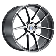 Beyern Wheels Ritz Gloss Gunmetal Brushed Face