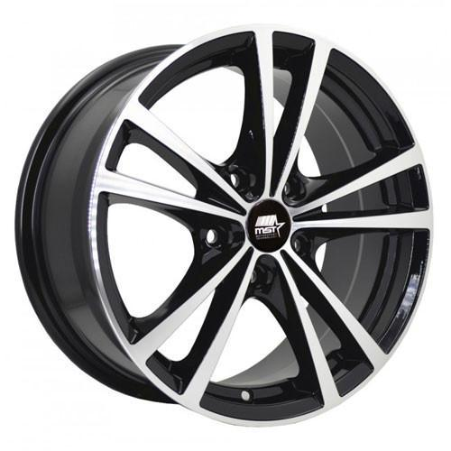 MST Wheels Saber Glossy Black Machined Face