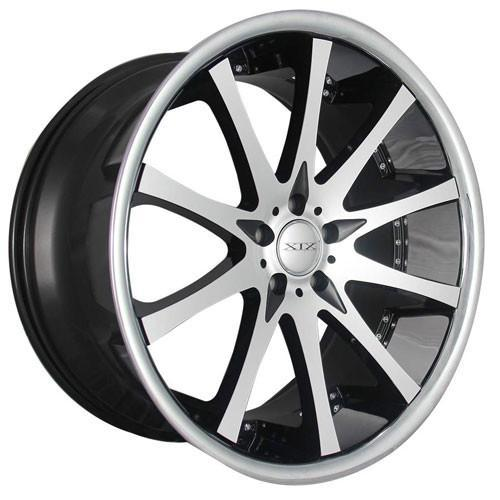 XIX Wheels X49 Black Machind Face Stainless Steel Lip
