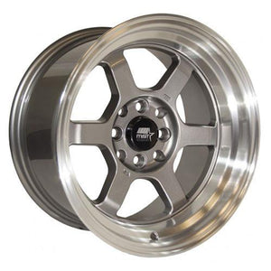 MST Wheels Time Attack Gunmetal Machined Lip