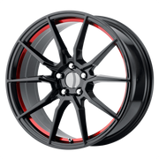 OE Creations Wheels PR193 Gloss Black Red Machined