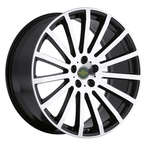 Redbourne Wheels Dominus Gloss Black Mirror Cut Face