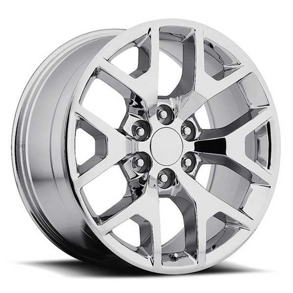 GMC Wheels RP04 24x10 6x139.7 Chrome fit Sierra 1500 Yukon Snowflake