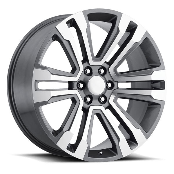 GMC Wheels RP10 22x9 6x139.7 Gunmetal Machined fit Sierra 1500 Yukon SLT