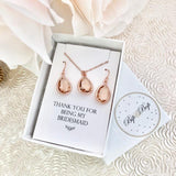 Bridal Party Gift Set - Blush Crystal
