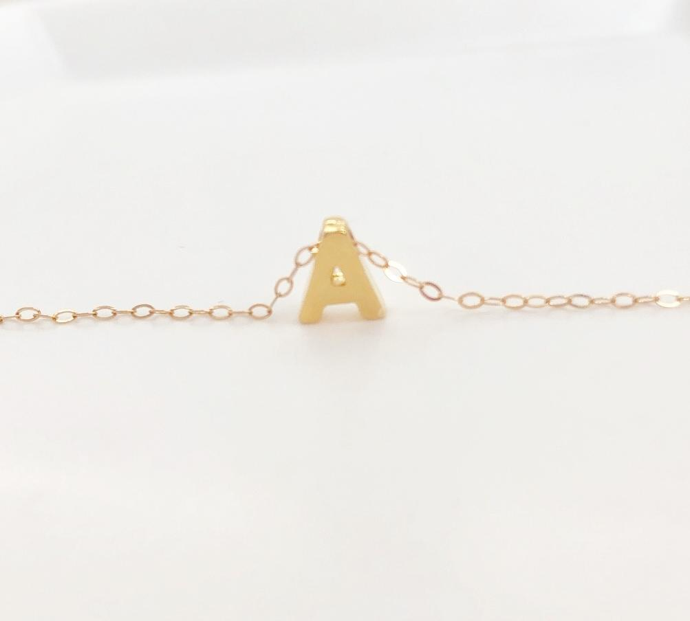 The Carrie. Personalized Gold or Silver Initial Necklace