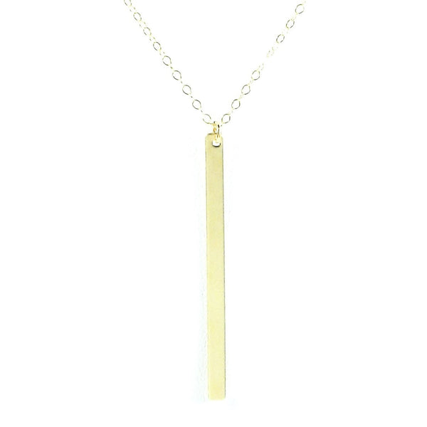 Vertical Skinny Bar Necklace