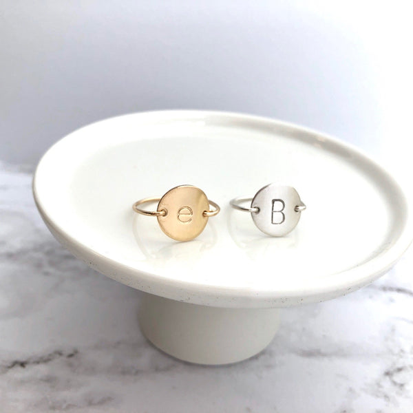Initial Ring - Gold Filled, Sterling Silver, Rose Gold Filled