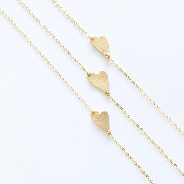 The Jill.  Abstract Hammered Heart