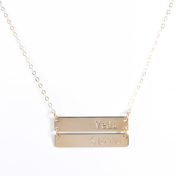 Ashlee Stacked Bar Necklace