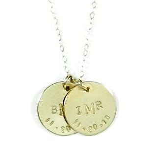 Christina Monogram & Birthdate Necklace. The Christina