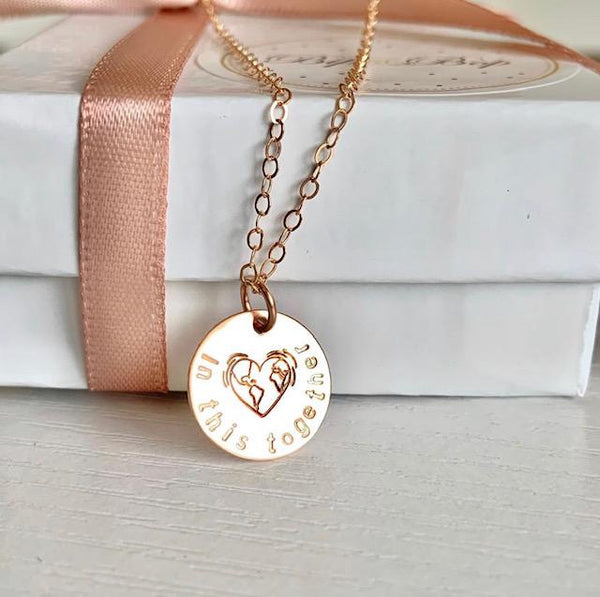 """In this Together"" Design Stamp Necklace"