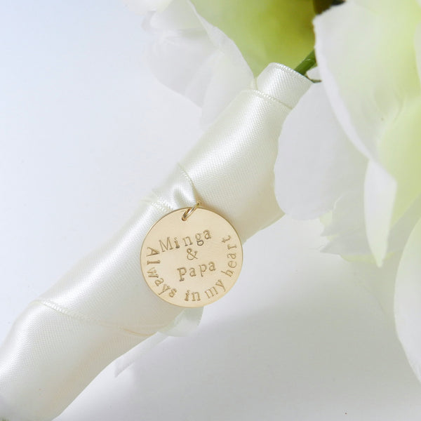 Keepsake Handstamped Bouquet Charm & Necklace