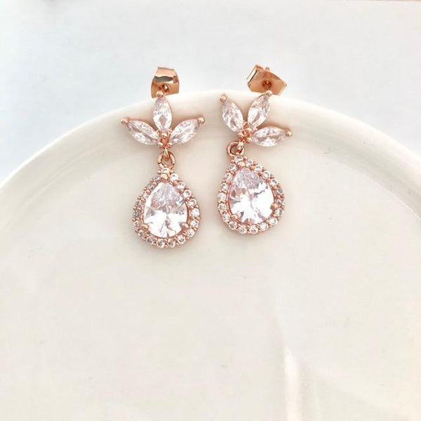 Bridal Teardrop Earrings