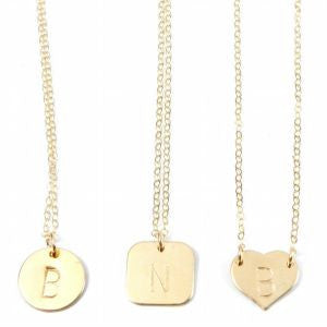 The Shannon. Monogrammed Necklace.