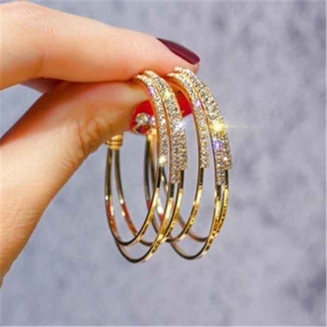 Fascinated Big Silver/Gold Color earing for Women