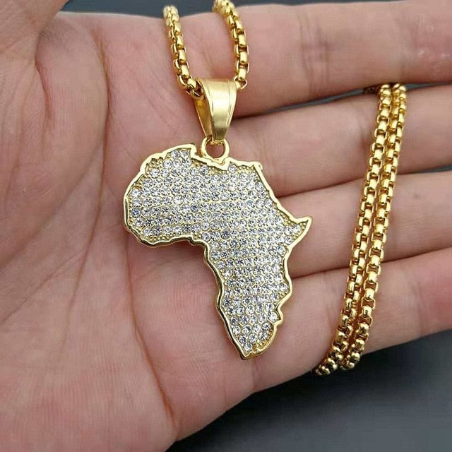 Men/Women's Map Necklace
