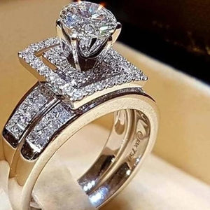 Luxury Ring Set  Silver Color