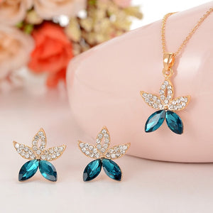 Luxury Jewelry Sets for Women (Necklace+ Ring +Earrings)