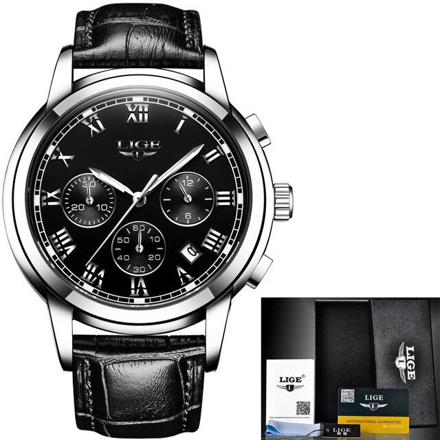 Water Resistant Luxury Leather  Watches for Men
