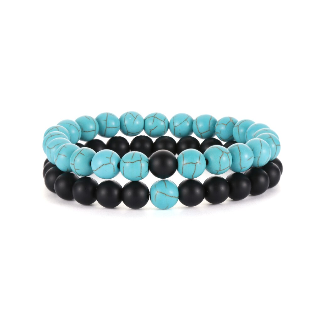 Unisex Fashion Couple Stone Bracelets