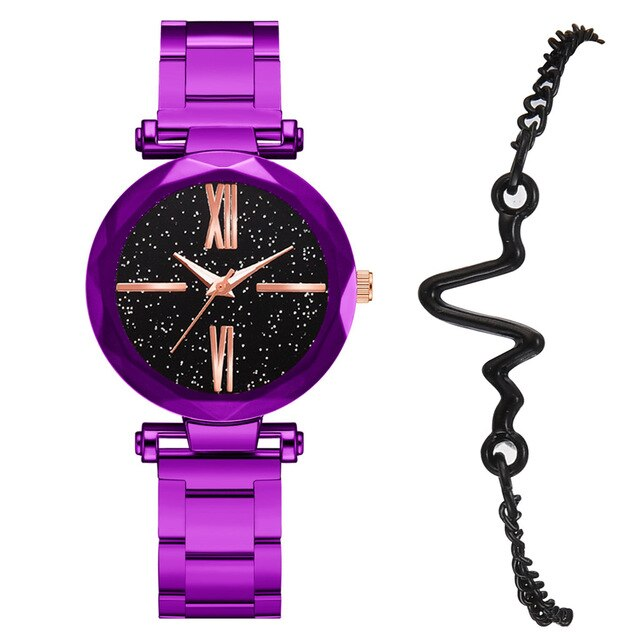 Top Luxury Women Watch+ Braclet
