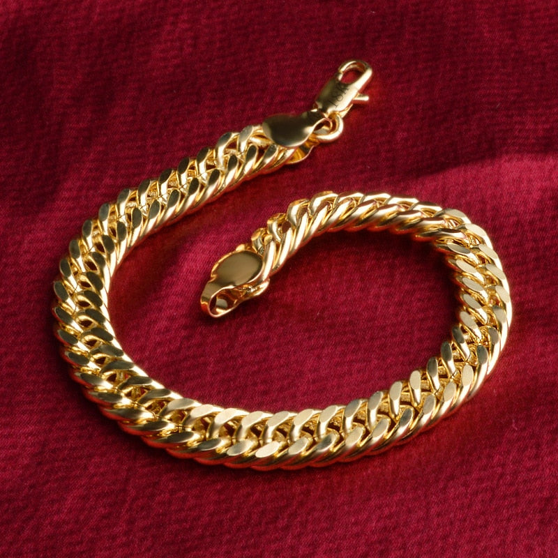 18k  impeccable  gold color bracelet for Men